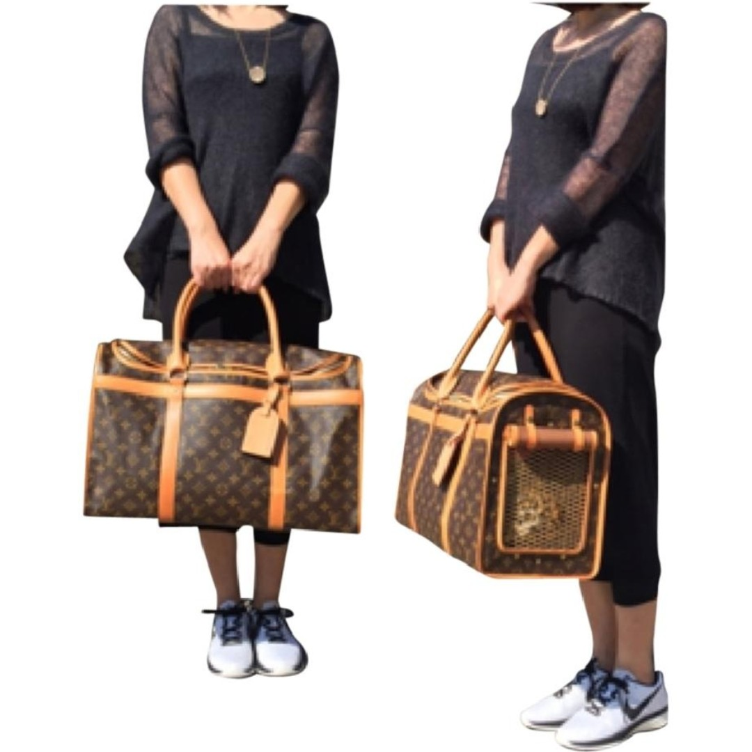 1520a16dc65c Louis Vuitton Sac Chien 50 LV Dog or Cat Carrier Bag 50 Monogram FREE  POSTAGE   FREE BAG NAME TAG For ANY Small Animal Pet Pets Friendly Bag  M42021