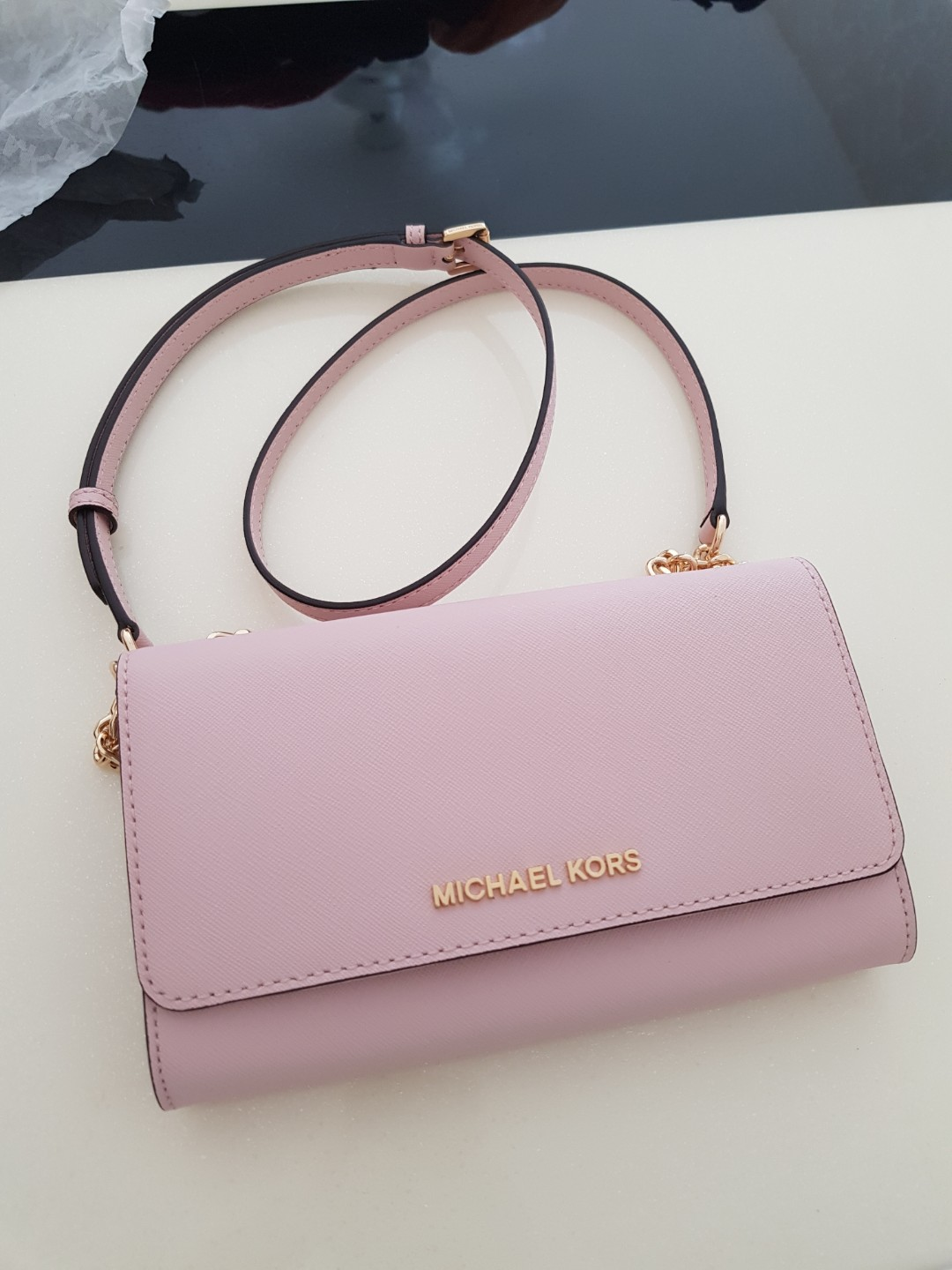 e18c6bc7a1a3 Price Reduce  Michael Kors Baby Pink Sling Bag