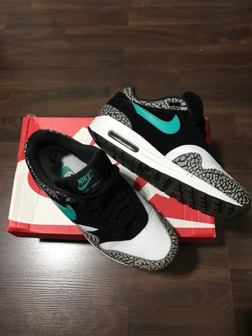 c1310714e1 Nike air max 1 atmos elephant (2017) US7, Men's Fashion, Footwear ...
