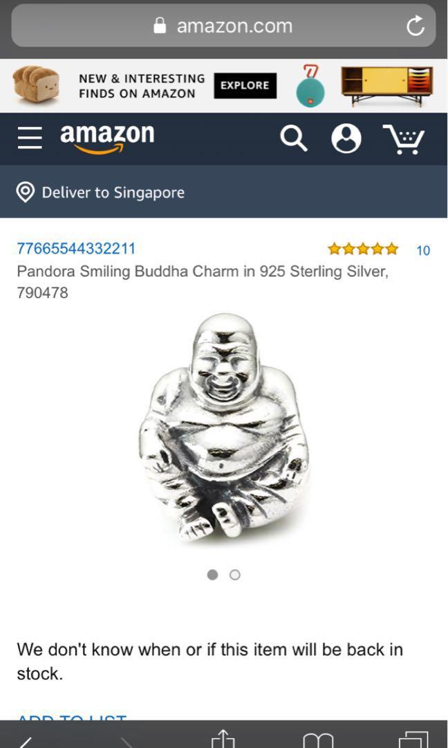 eb4b95ecc PANDORA Buddha charm, Women's Fashion, Jewellery, Others on Carousell