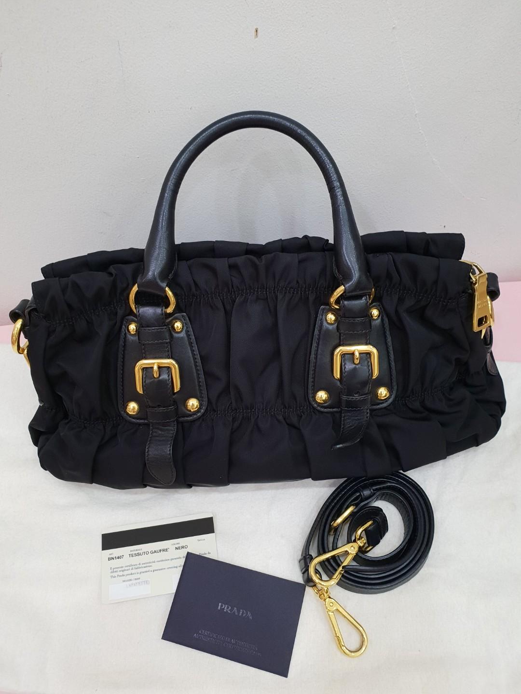 7ed00f1e05 Prada Tessuto Gaufre Top Handle Bag (BN1407)