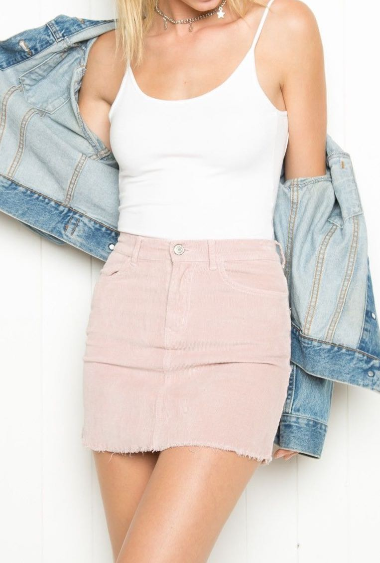 c3413d663f preorder brandy melville inspired juliette pink corduroy skirt ...