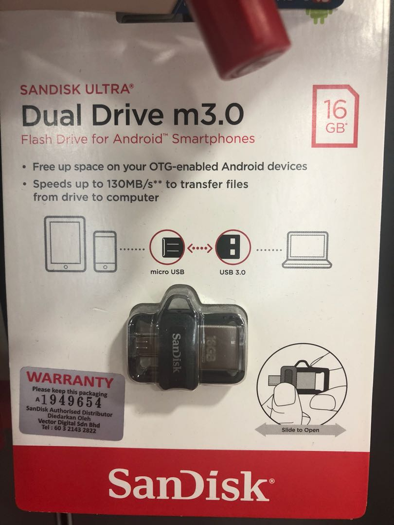 Sandisk Ultra Dual Drive M30 Otg 32gb Without Packaging Mobiles Usb 30 Tablets Mobile Tablet Accessories On Carousell
