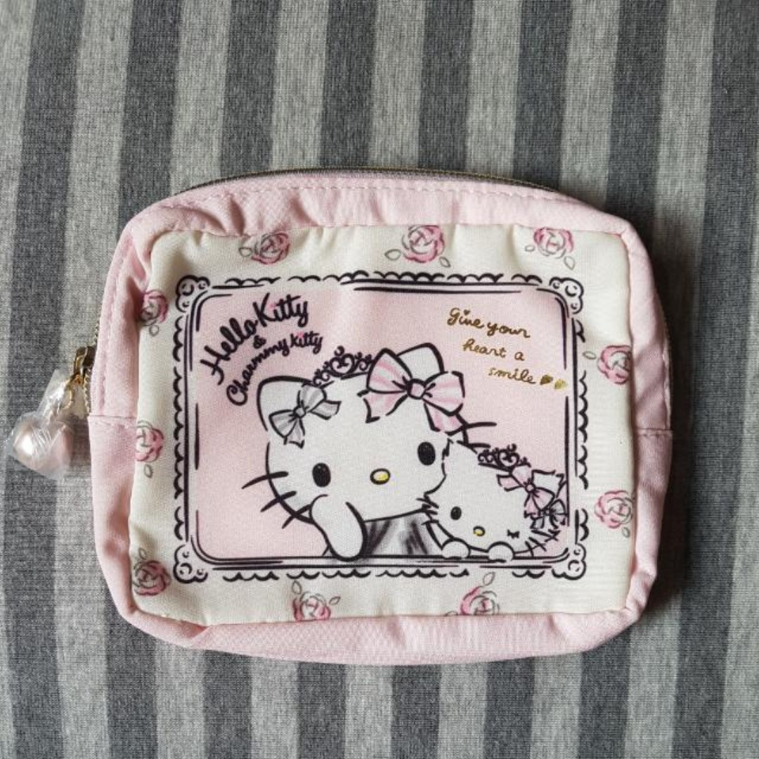 33a005f5efb5 Sanrio Japan - Hello Kitty   Charmmy Kitty Cosmetics Pouch Bag With Mirror