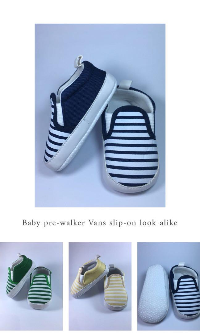 91a7103d50 Sepatu Bayi Prewalker Shoes Vans Slip-on look-alike