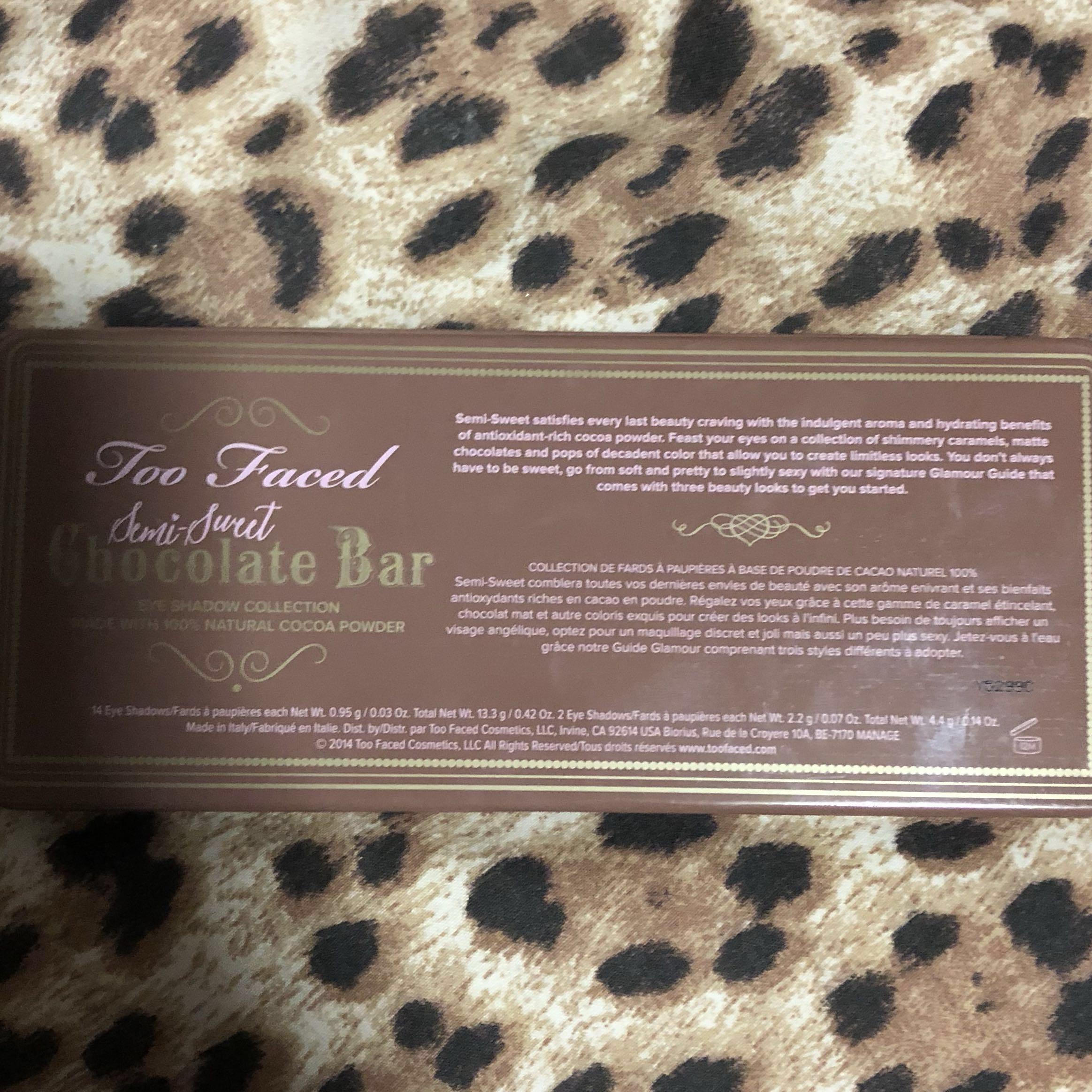 Too Faced Semi- Sweet Chocolate Bar Palette