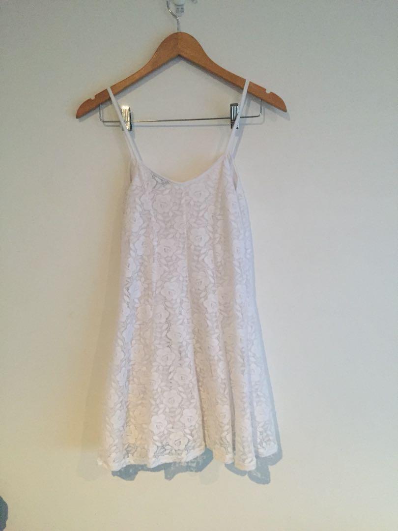 Topshop Lace White Sundress