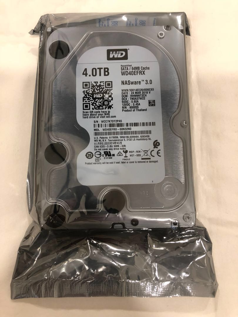 "WD Red 4TB 3 5"" NAS Hard Disk"