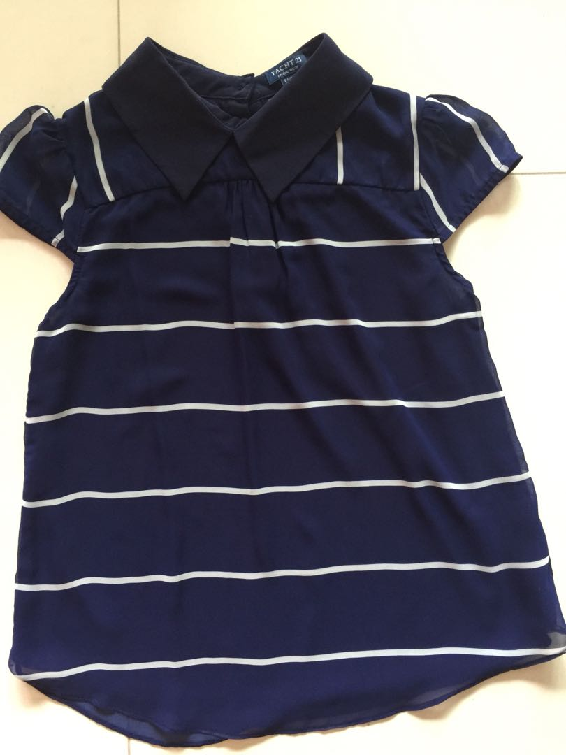 f6b804d02b7a1d Yatch 21 nautical blouse, Women's Fashion, Clothes, Tops on Carousell