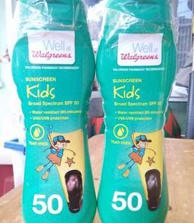 Sunscreen for kids. 420 pesos each