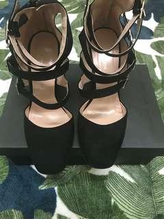 Black Zipped Heels