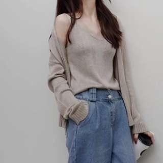 韓版春夏針織背心+外套