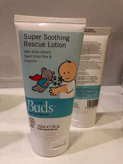 Buds Super Soothing Rescue Lotion 150ml for mild eczema babies. Expiry Jan2020.