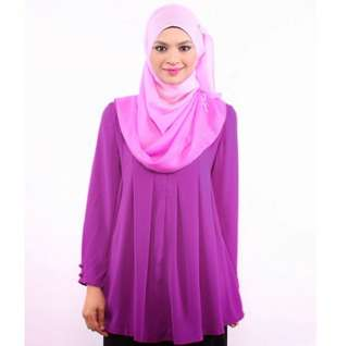 EDZ purple pleated blouse