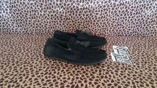 Coach New York Loafers Black Suede Second Sepatu Bekas Branded import
