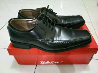 Walk-Over Men's Black Leather Shoes
