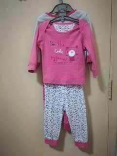 2 sets Mothercare pyjamas size 6-9months