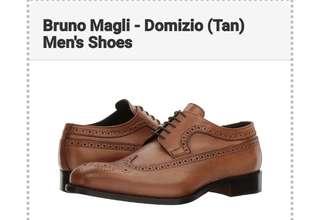 (Original) Bruno Magli Brogued Wingtip Oxfords / Size 8.5 US