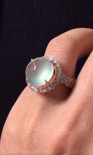 GZ-23藍水戒指 完美起熒光 飽滿圓潤 色美乾淨細膩尺寸13.5*13.5*8 結緣價¥46900