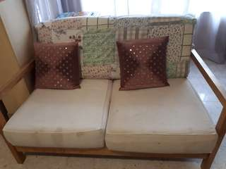 2 x 2sitter sofas. Cover washable.