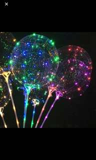 Transparent luminous balloons - ideal for party or deco