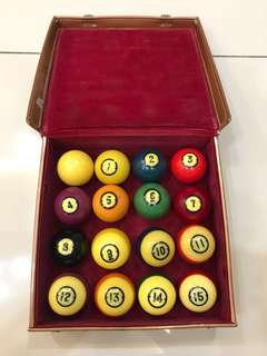 Vintage Brunswick Centennial Pool Billiard Balls