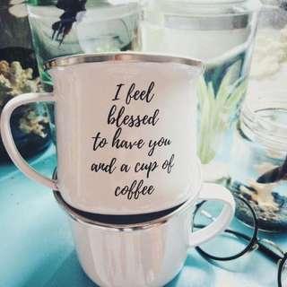 Cangkir kopi bahan Enamel Anti Pecah