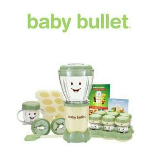 Magic Baby Bullet 20 piece set baby food blander & maker