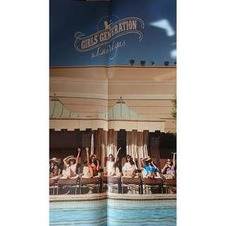 【保存良好,非常新淨】少女時代 Girls' Generation In Las Vegas 寫真集   杯墊   海報   DVD