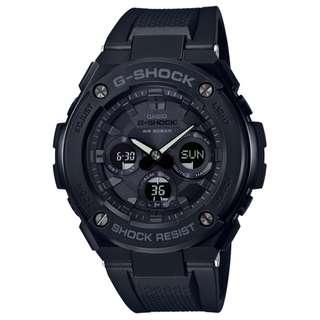 CASIO G-SHOCK GST G-STEEL series GST-S300 GST-S300G-1A1 全黑色 膠帶 GSHOCK GSTS300G1A1