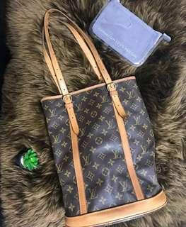 Louis Vuitton Bucket GM Set Pouch Plastic LV