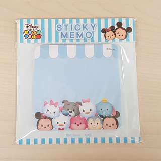 Disney Tsum Tsum Blue Colour Square Shape Sticky Memo Writting Note Pad