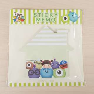 Disney Tsum Tsum Monster University Green Colour House Shape Sticky Memo Writting Note Pad