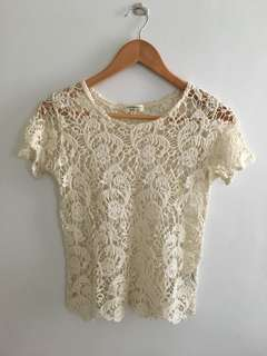Original Cotton On Lace Cover-up See-through Shirt