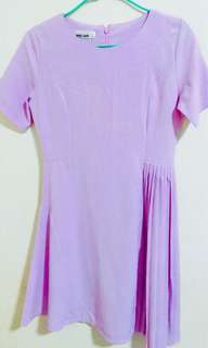 Bn Purple Gathered Dress