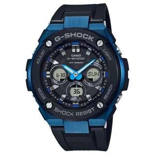 CASIO G-SHOCK G-STEEL GST-S300 series GST-S300G-1A2 藍色 GSHOCK GSTS300G1A2