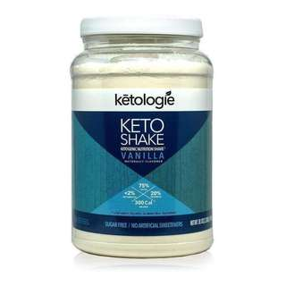 [SINGLES] Ketogenic Meal Replacement - Ketologie Vanilla Keto Protein Shake - 1 MEAL OR 1/2 MEAL