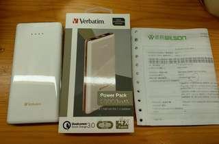 全新 Verbatim Power Bank 白色充電器 (IPhone X Samsung 適用)