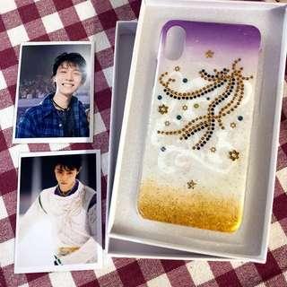 羽生結弦 陰陽師服裝 衍生 iPhone X DIY 手機閃殼 保護套