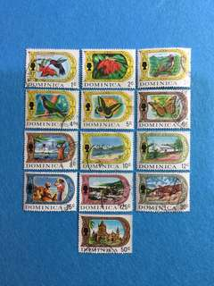 1969 Dominica Definitive Series 13V Short Set Used