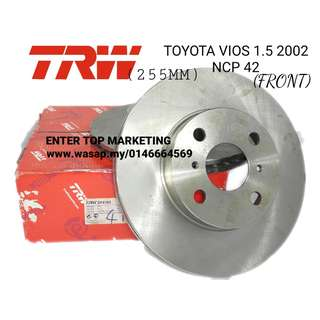 TRW DISC ROTOR TOYOTA VIOS 02 NCP42