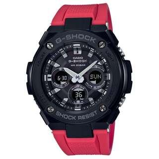 CASIO G-SHOCK G-STEEL GST-S300 series GST-S300G-1A4 紅色 GSHOCK GSTS300G1A4