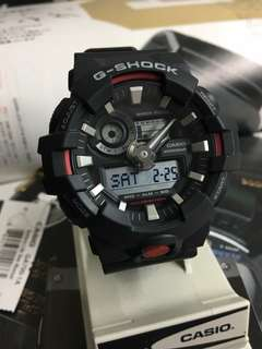 GA-700 BLACK RED GSHOCK WATCH