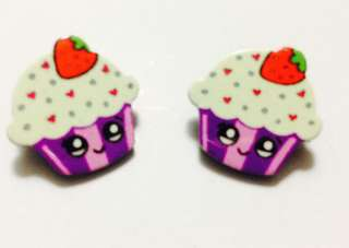 Cupcake brooch for kids-in pair 003
