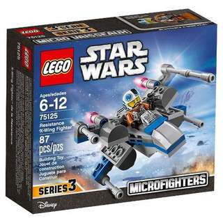 (NEW) LEGO 75125 Star Wars - Resistance X-Wing Fighter Microfighters Series 3