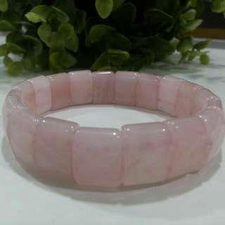 Pink Colour Natural Crystal Bracelet