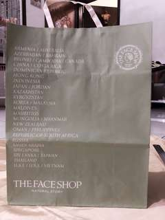 The face shop XL paperbag