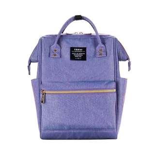 🚚 【現貨】Heine 媽媽包 媽咪包 新手媽媽包 爸爸包 旅行包 後背包 親子包 大開口 好收納-藍紫色