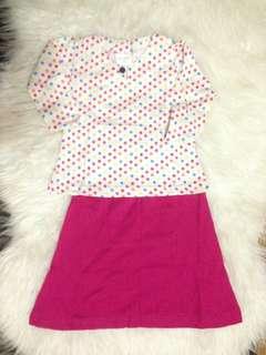 🌹 Hari Raya Collection🌹 Baju Kurung Baby -  Kod HHP 12  Size :  S (6m - 1 yrs) M (1 - 2 yrs)
