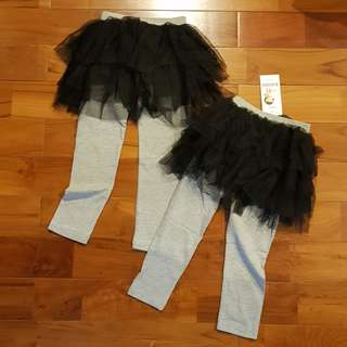 Legging tutu black-grey